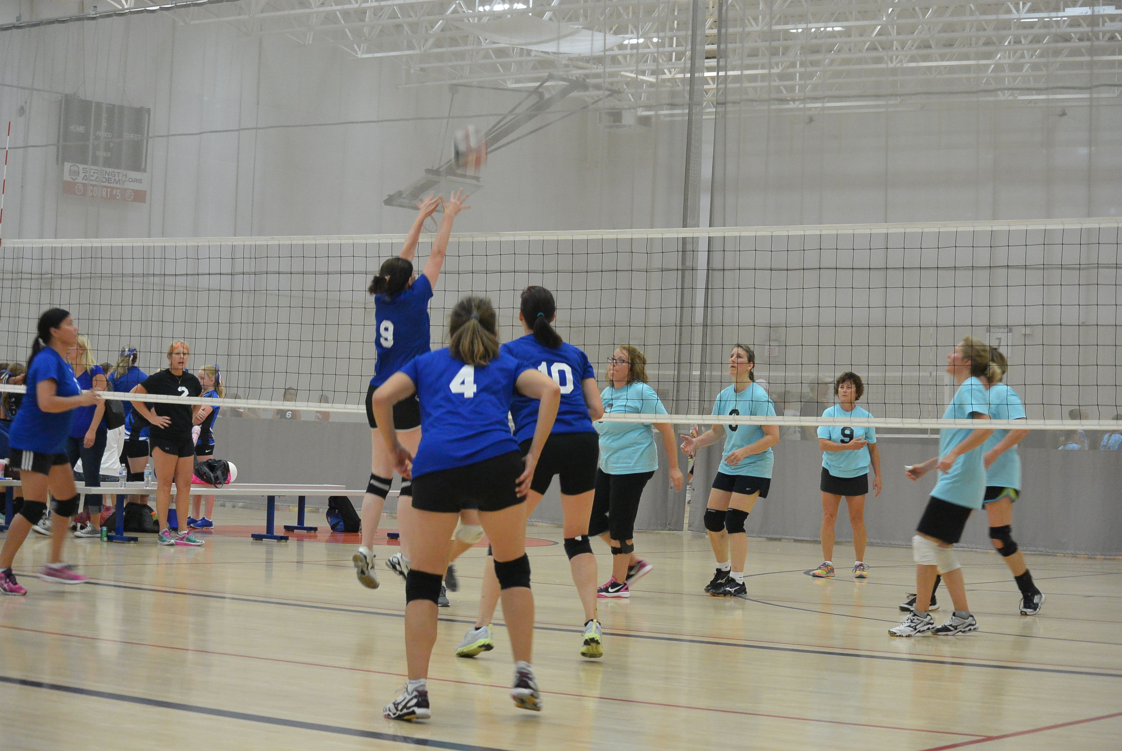 What size field is needed for volleyball